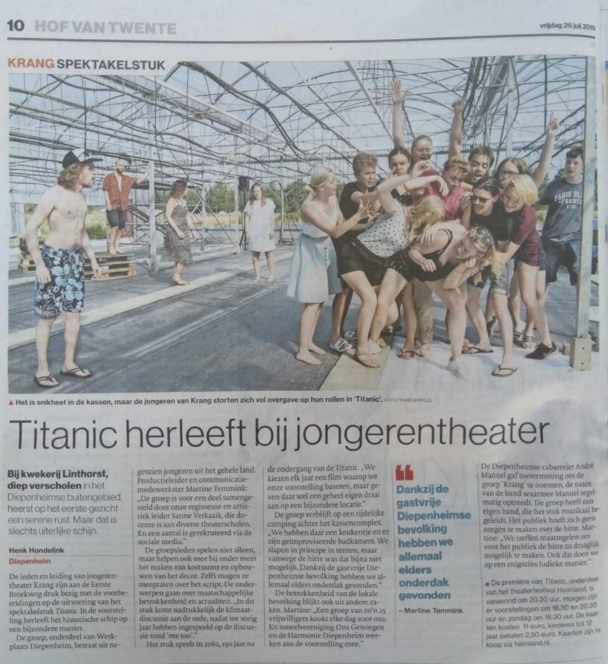 Tubantia TITANIC - Jongerentheater KRANG